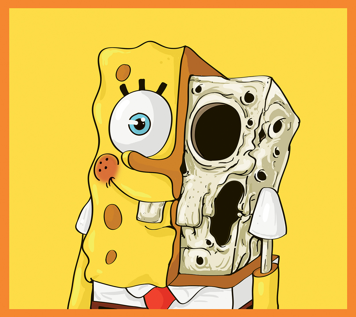 Spongebob Squarepants - Cute Yellow - Art by Mahmoud Refaat
