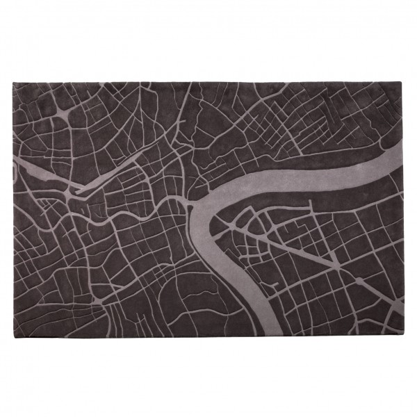 Shanghai - Urban Fabric Wool Rug by Four O Nine