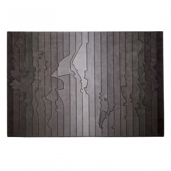 Time Zone - Urban Fabric Wool Rug by Four O Nine