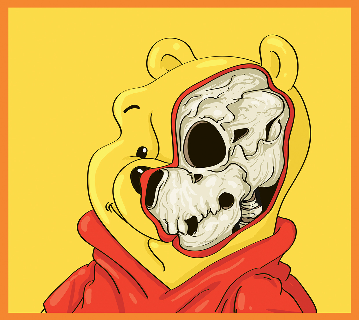 Winnie the Pooh - Cute Yellow - Art by Mahmoud Refaat