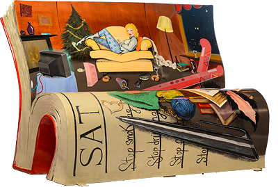 Bridget Jones's Diary Bench by Books About Town