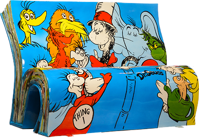 Dr. Seuss Bench by Books About Town