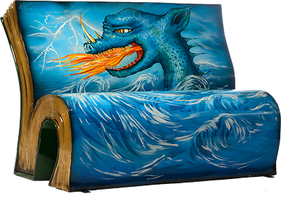 How to Train Your Dragon Bench by Books About Town