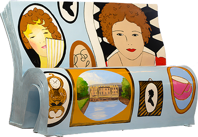 Pride and Prejudice Bench by Books About Town