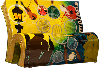 Sherlock Holmes Stories Bench by Books About Town