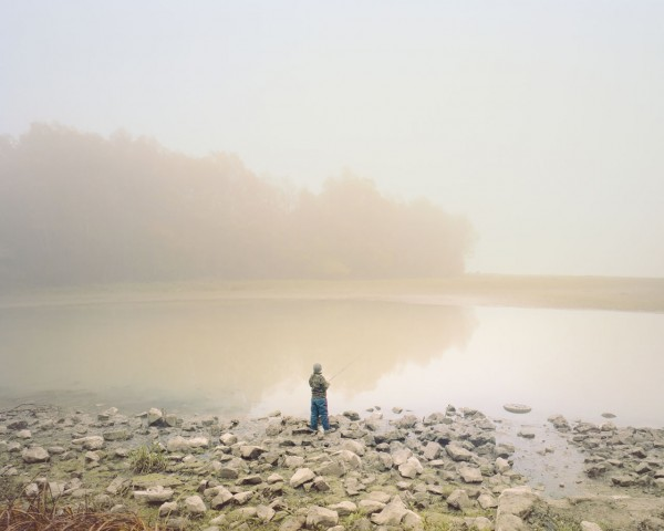 Boy fishing, Paks, Hungary - Photo by Ákos Major