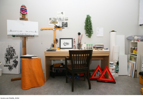 Jessica van Brakle, Artist - Art Desks - Photo by E. Brady Robinson