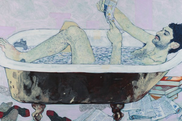 Freelancer (Mikey Hernandez) - Painting by Hope Gangloff