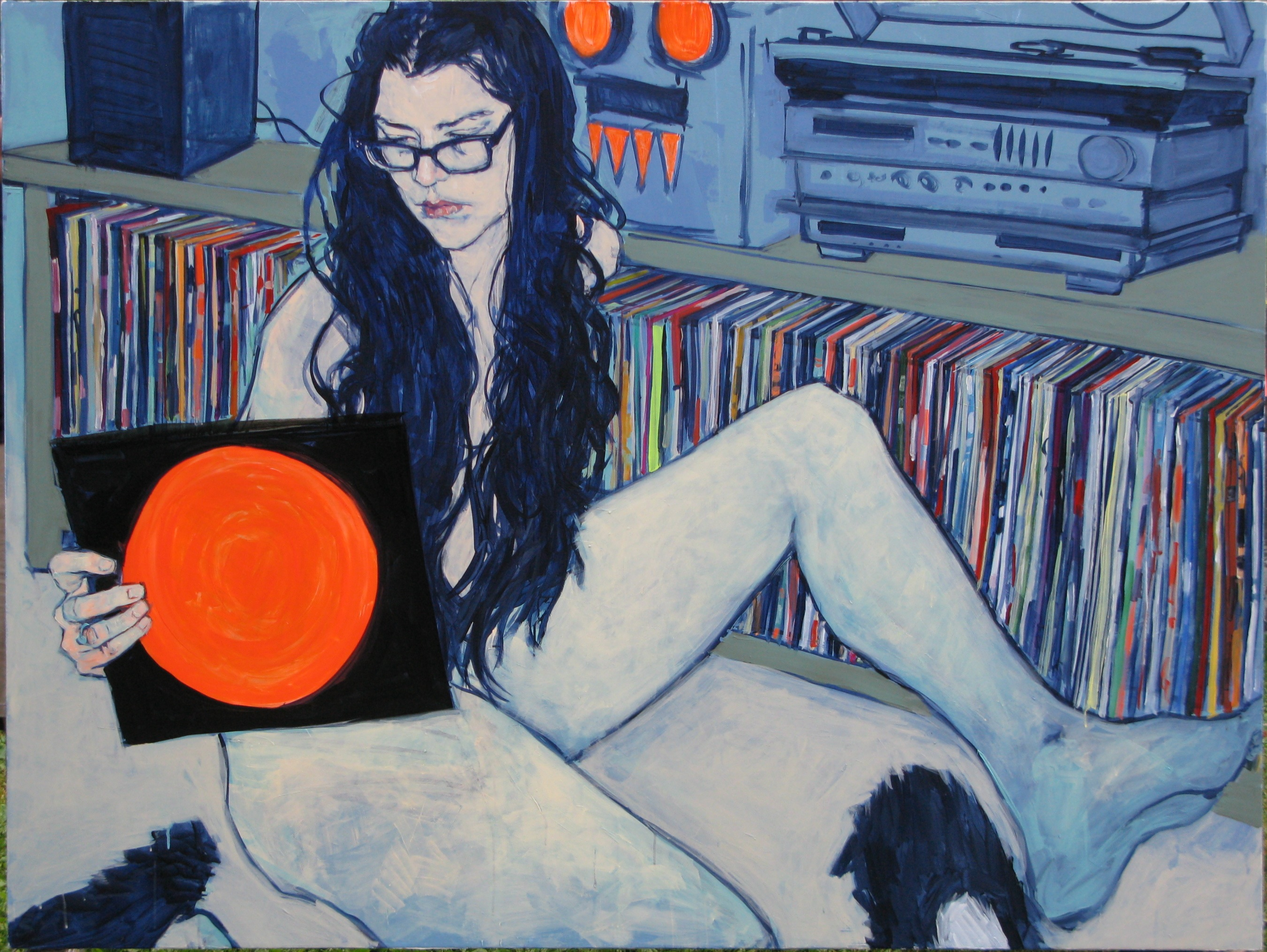 Lina in My House - Painting by Hope Gangloff