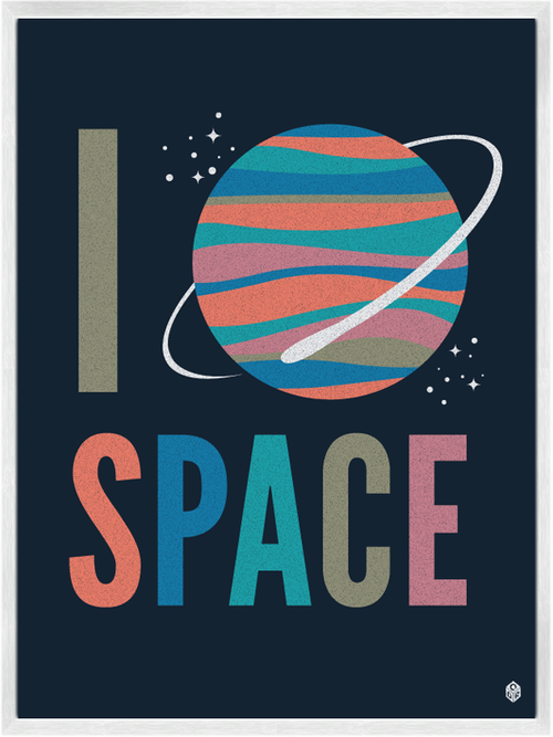 I Heart Space - Art Print by Christopher David Ryan, CDR