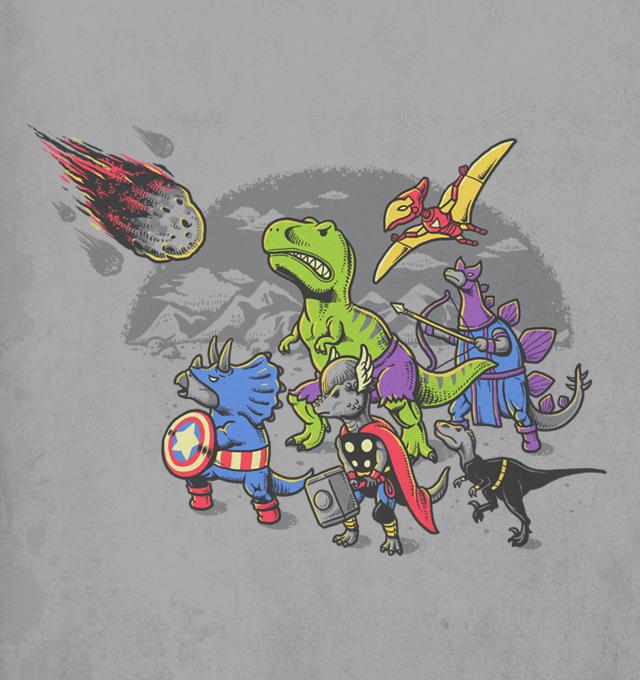 Dinosaur Avengers - Illustration by Ben Chen
