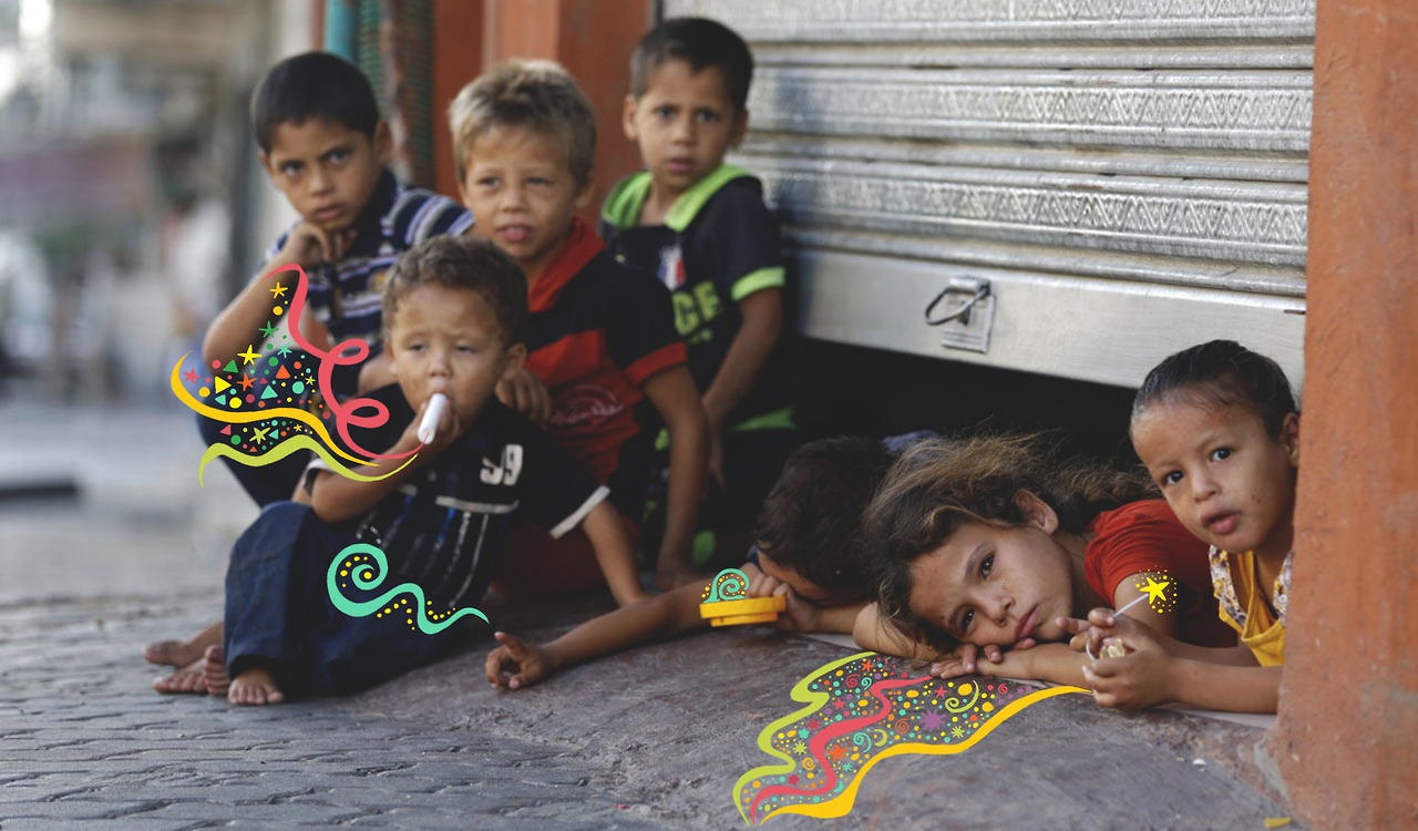 Eid in Gaza - Palestinians Teach Life - Art by Haneen Nazzal