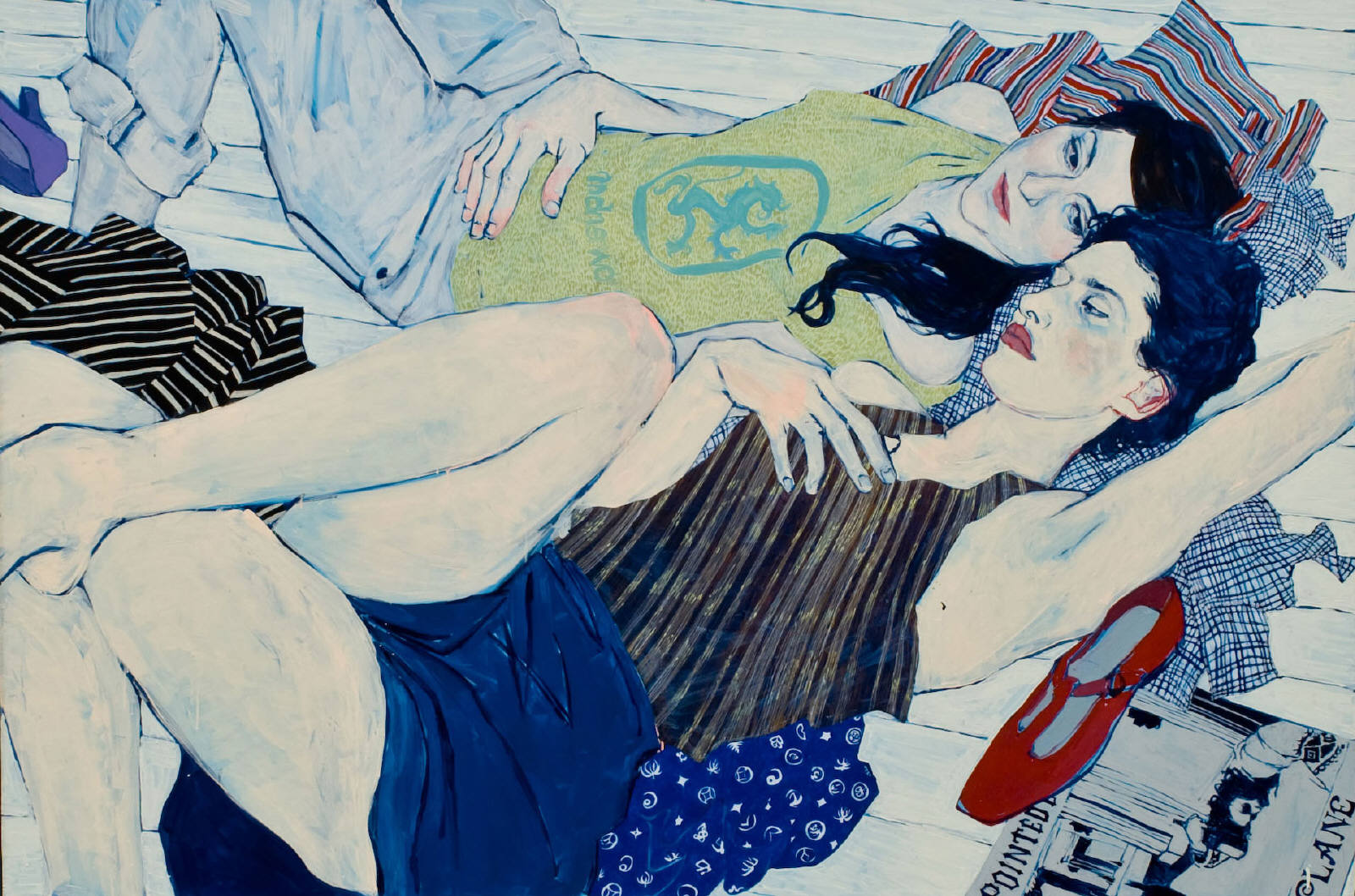 Clothes Swap Brookyn - Painting by Hope Gangloff