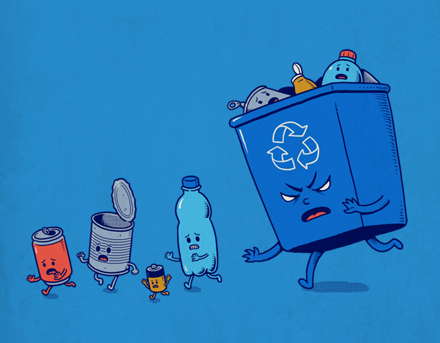Recycling - Illustration by Ben Chen