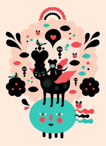 You Are My Favorite Adventure - Colourful Art Print by Muxxi