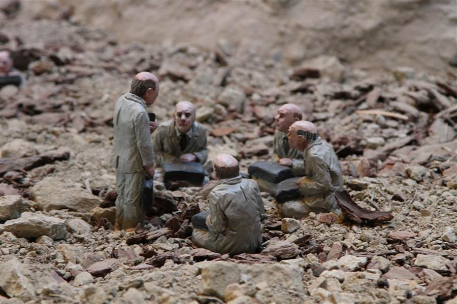 Cement Eclipses - Art by Isaac Cordal