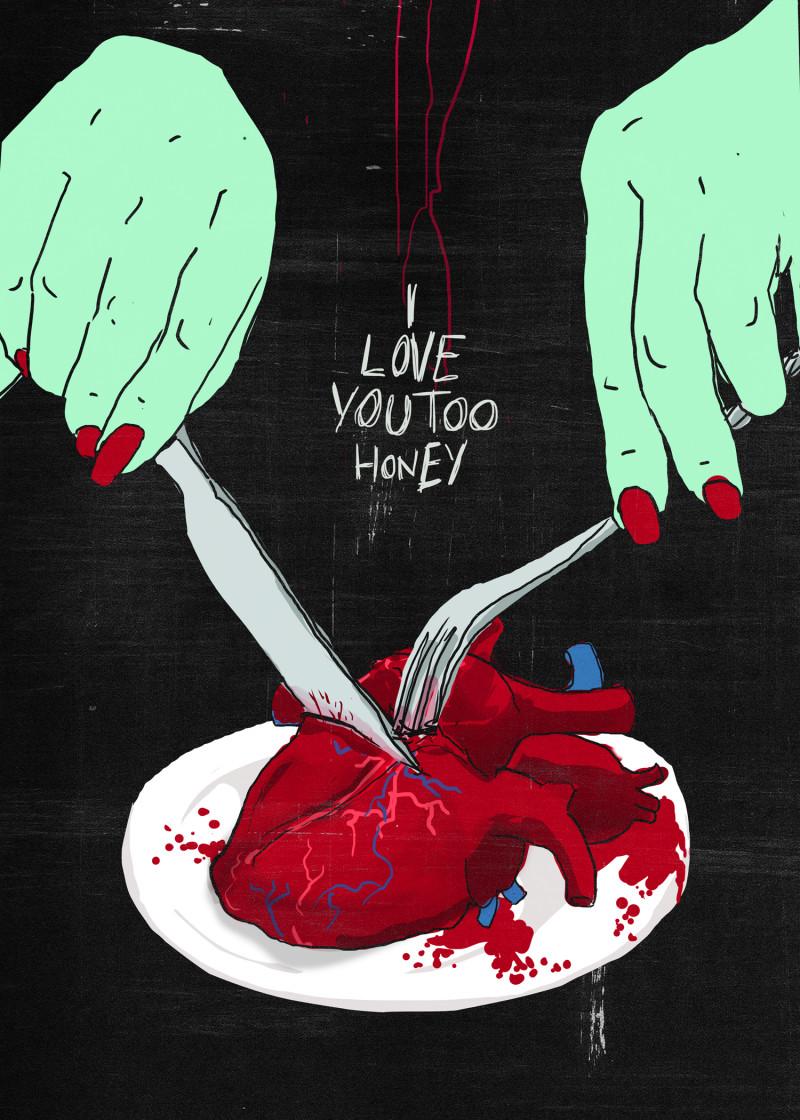 I Love You Too - Weird Love - Illustration by Francesco Tortorella
