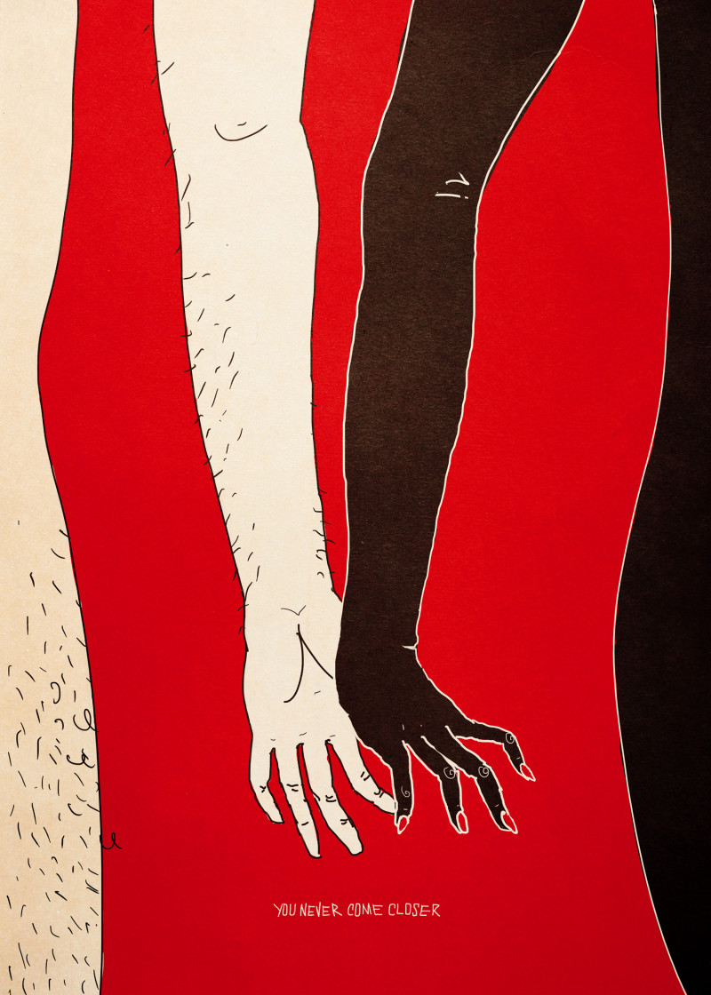 You Never Come Closer - Weird Love - Illustration by Francesco Tortorella