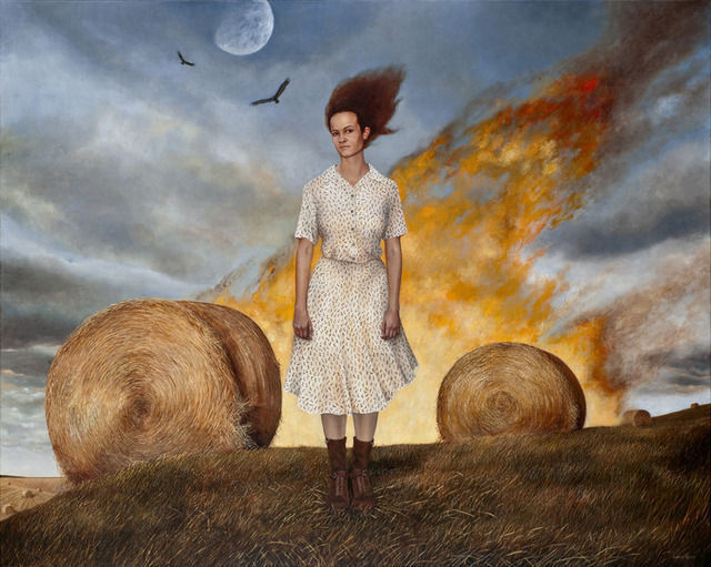 Beyond Here - Painting by Andrea Kowch