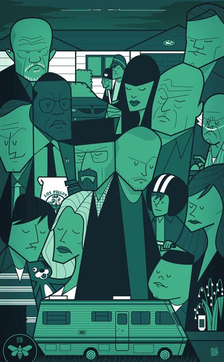 Breaking Bad (Green Version) - Art Print by Ale Giorgini