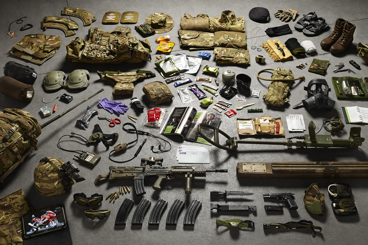 Close Support Sapper, Royal Engineers, Helmand Province, 2014 - Soldiers' Inventories - Photo by Thom Atkinson