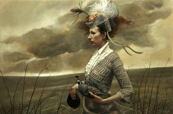Her Fancy - Painting by Andrea Kowch