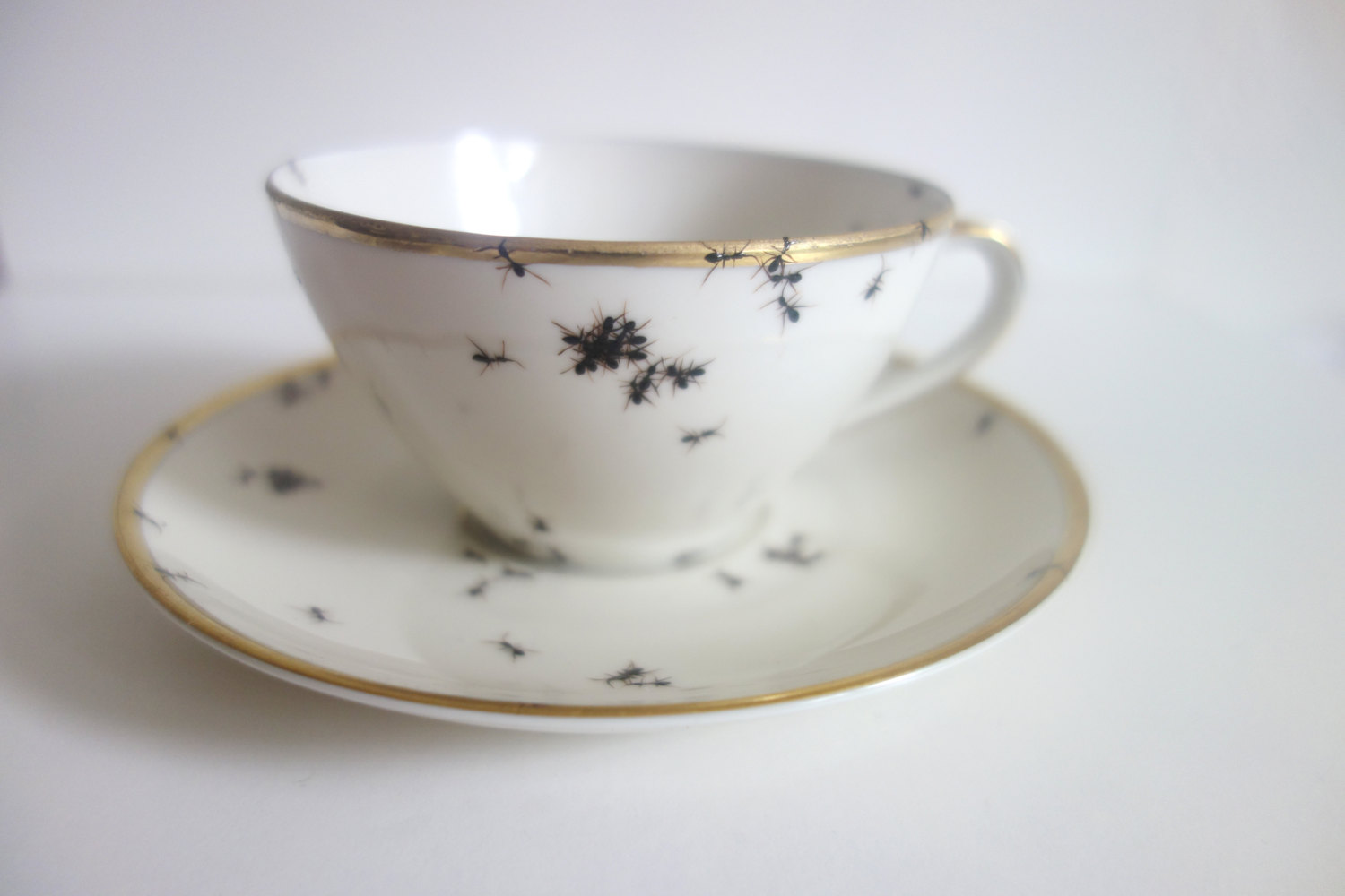 Teacup - Hand Painted Porcelain by La Philie - Evelyn Bracklow