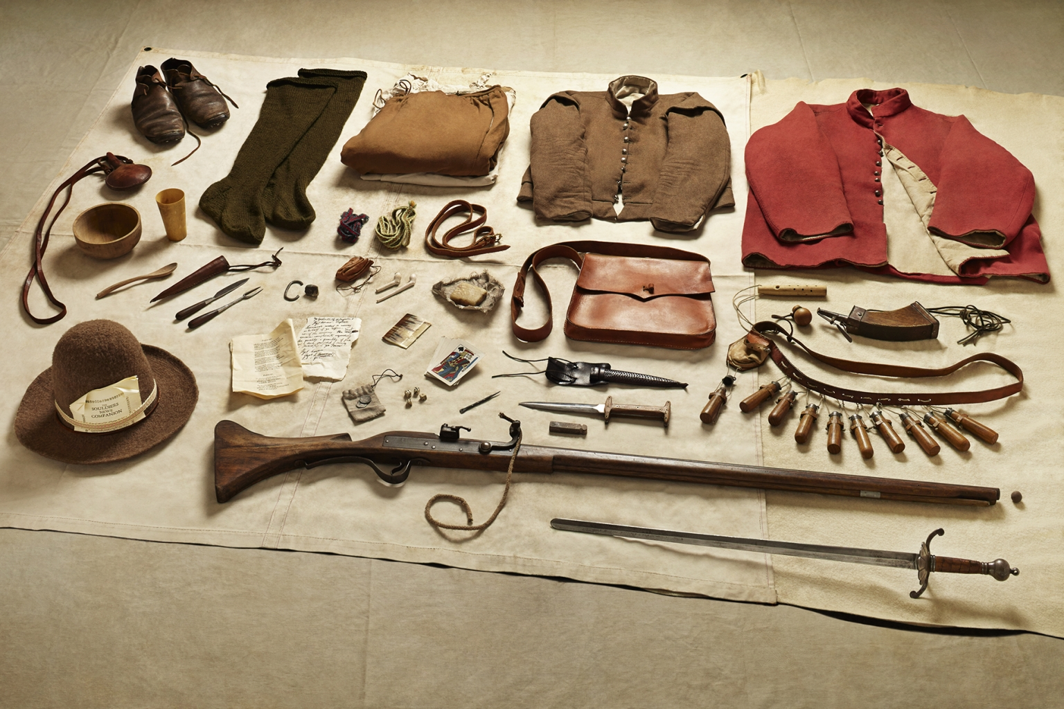 New Model Army Musketeer, Battle of Naseby, 1645 - Soldiers' Inventories - Photo by Thom Atkinson