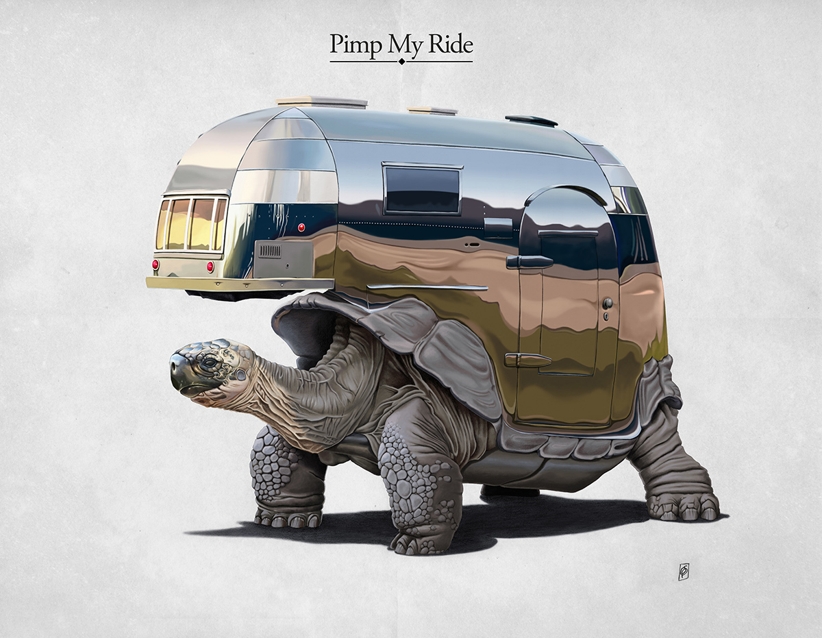 Pimp My Ride - Art Print by Rob Snow