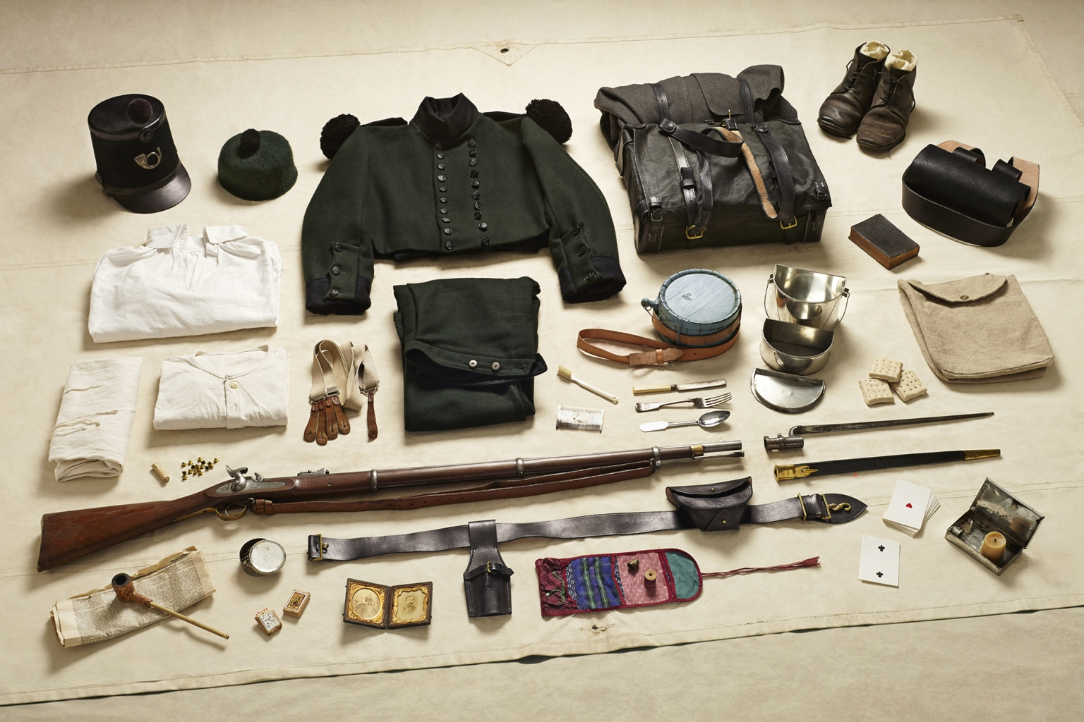 Private Soldier, Rifle Brigade, Battle of the Alma, 1854 - Soldiers' Inventories - Photo by Thom Atkinson