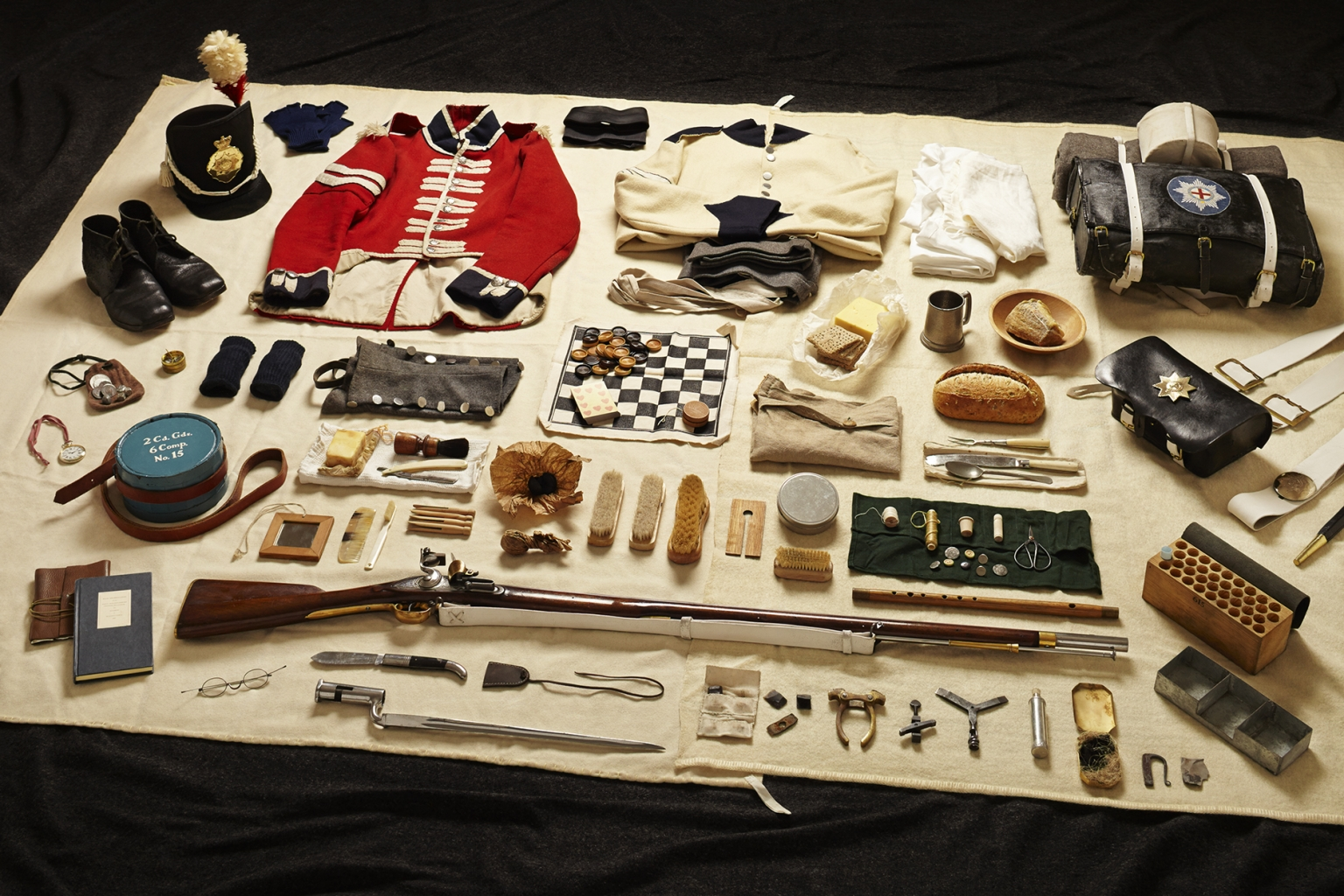 Private Soldier, Battle of Waterloo, 1815 - Soldiers' Inventories - Photo by Thom Atkinson