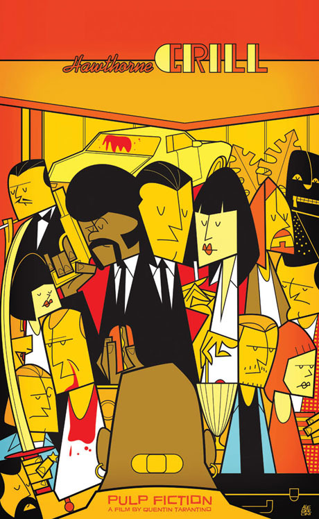 Pulp Fiction - Art Print by Ale Giorgini