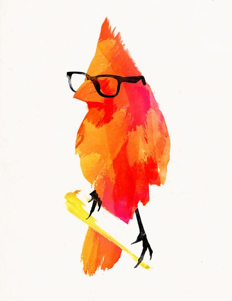 Punk Bird - Art Print by Robert Farkas