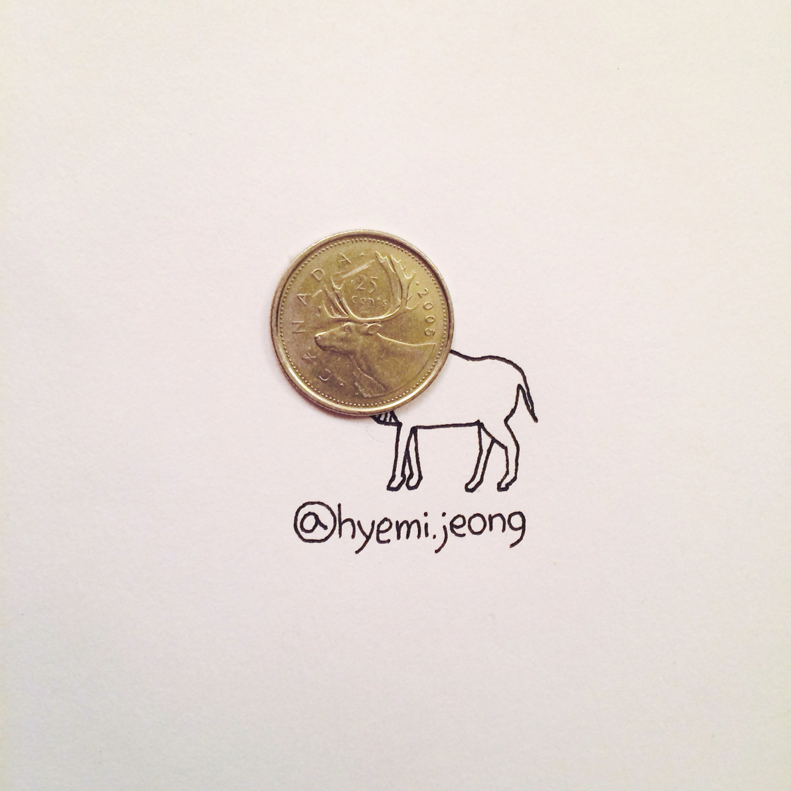 Reindeer- Art by Hyemi Jeong