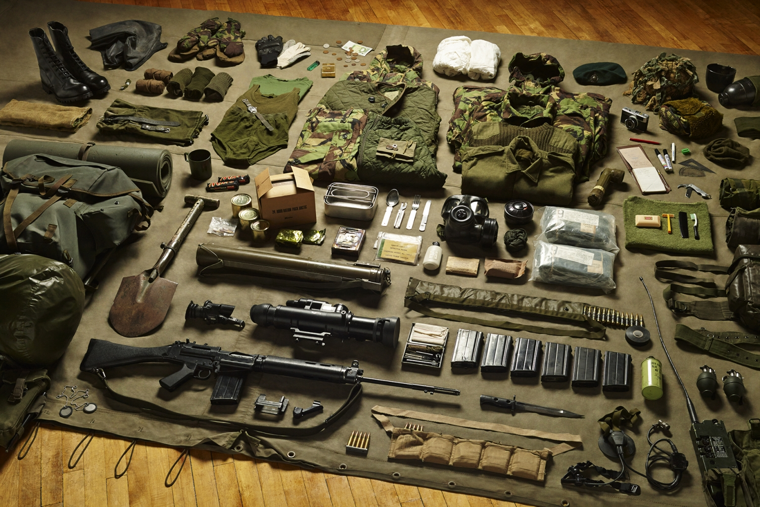 Royal Marine Commando, Falklands Conflict, 1982 - Soldiers' Inventories - Photo by Thom Atkinson