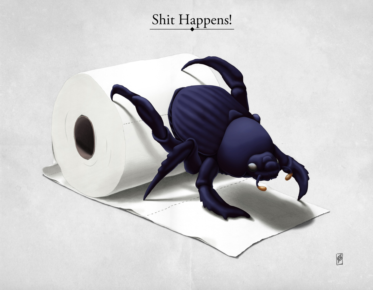 Shit Happens! - Art Print by Rob Snow