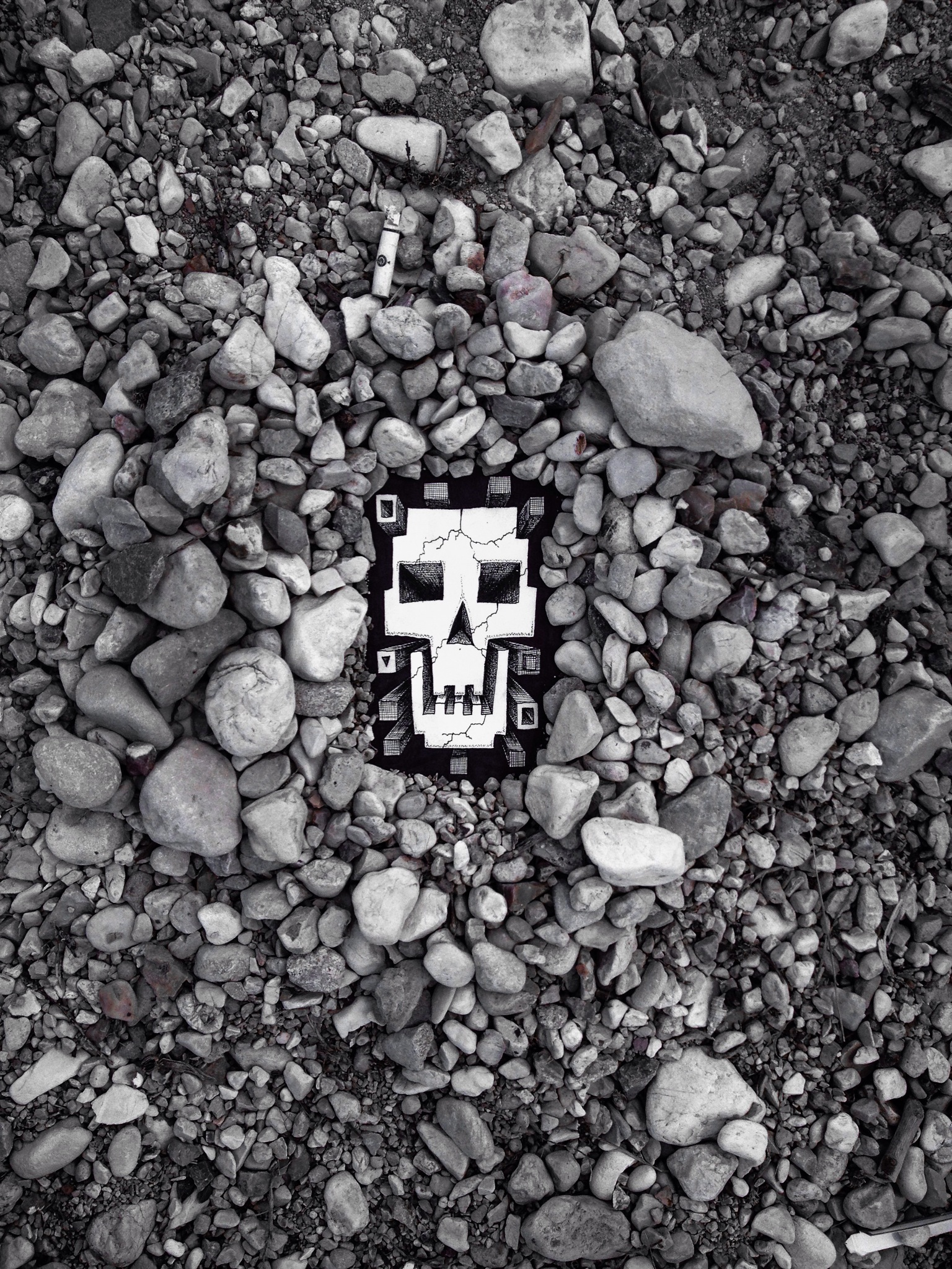 Skull Temple - Pens and Pebbles  - Art by Micke Nikander