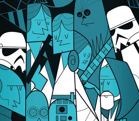 Star Wars - Art Print by Ale Giorgini