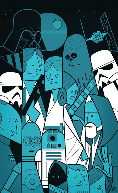 Star Wars - Art Print by Ale Giorgini