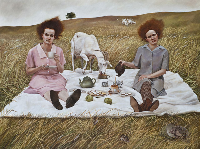 Tea - Painting by Andrea Kowch