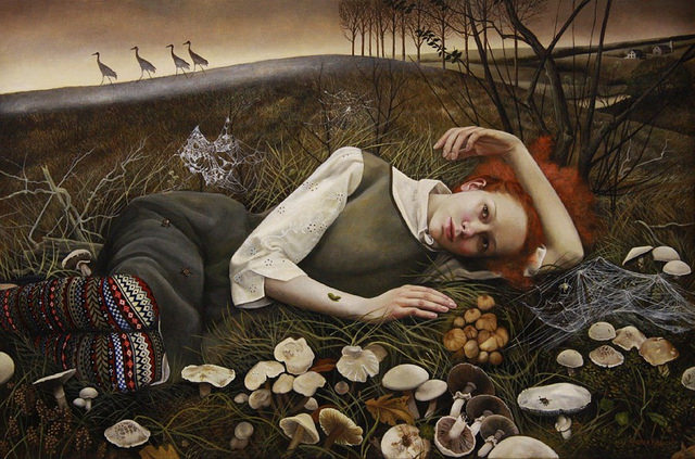 The Merry Wanderers - Painting by Andrea Kowch