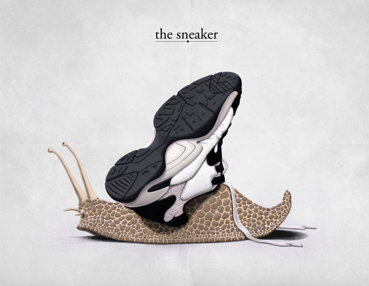 The Sneaker - Art Print by Rob Snow