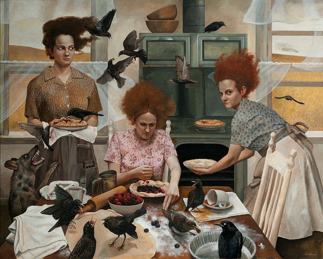 The Visitors - Painting by Andrea Kowch