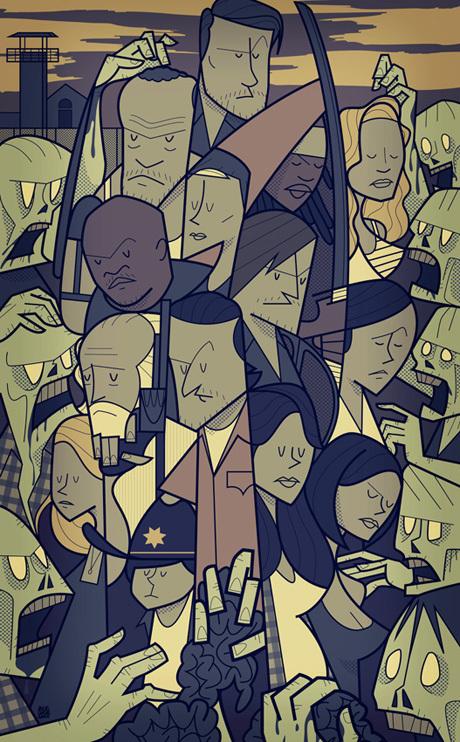 The Walking Dead - Art Print by Ale Giorgini