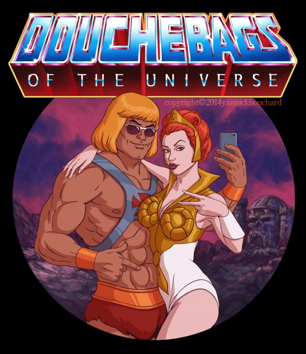 Douchebags of the Universe - Illustration by Yannick Bouchard