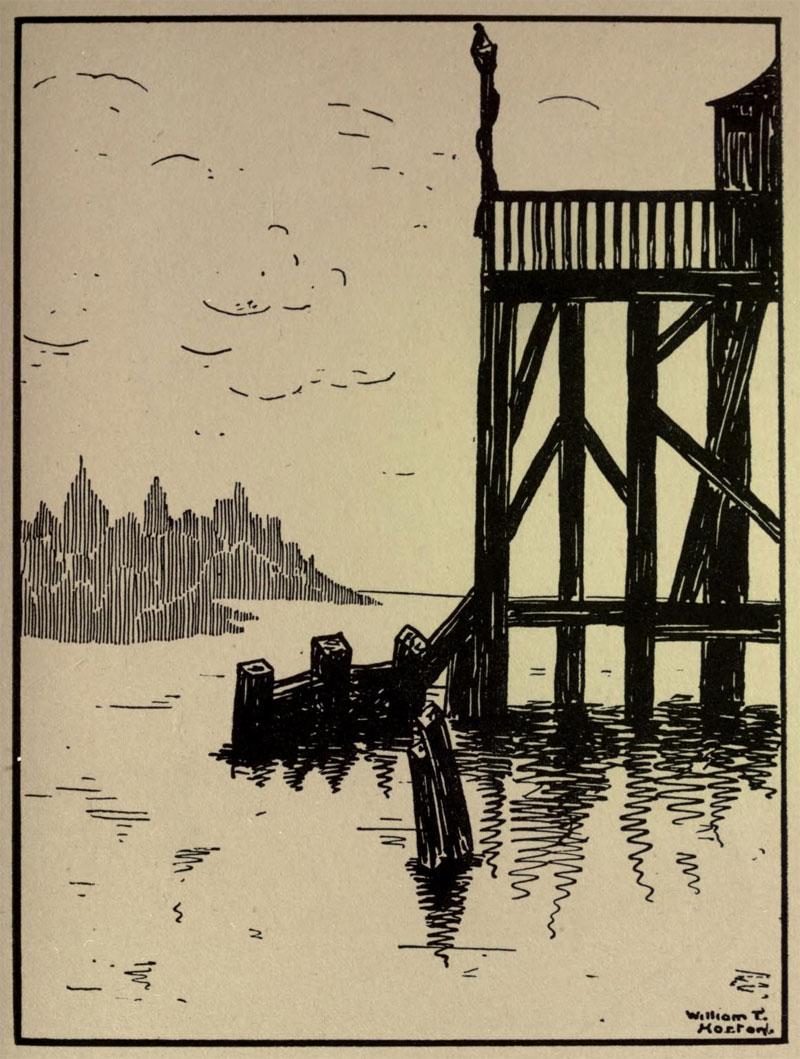 The Old Pier- Illustration by William Thomas Horton