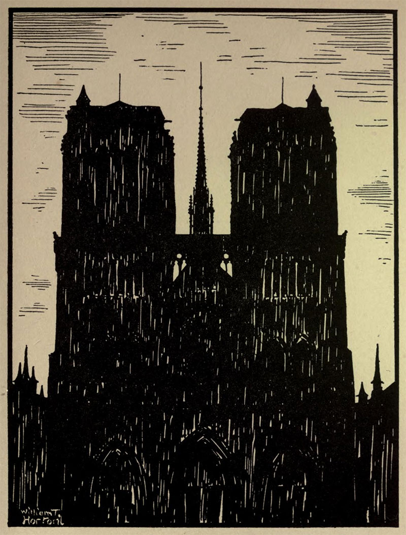 Notre Dame de Paris- Illustration by William Thomas Horton