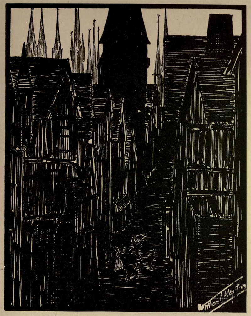 La Rue Des Petits-Toits- Illustration by William Thomas Horton