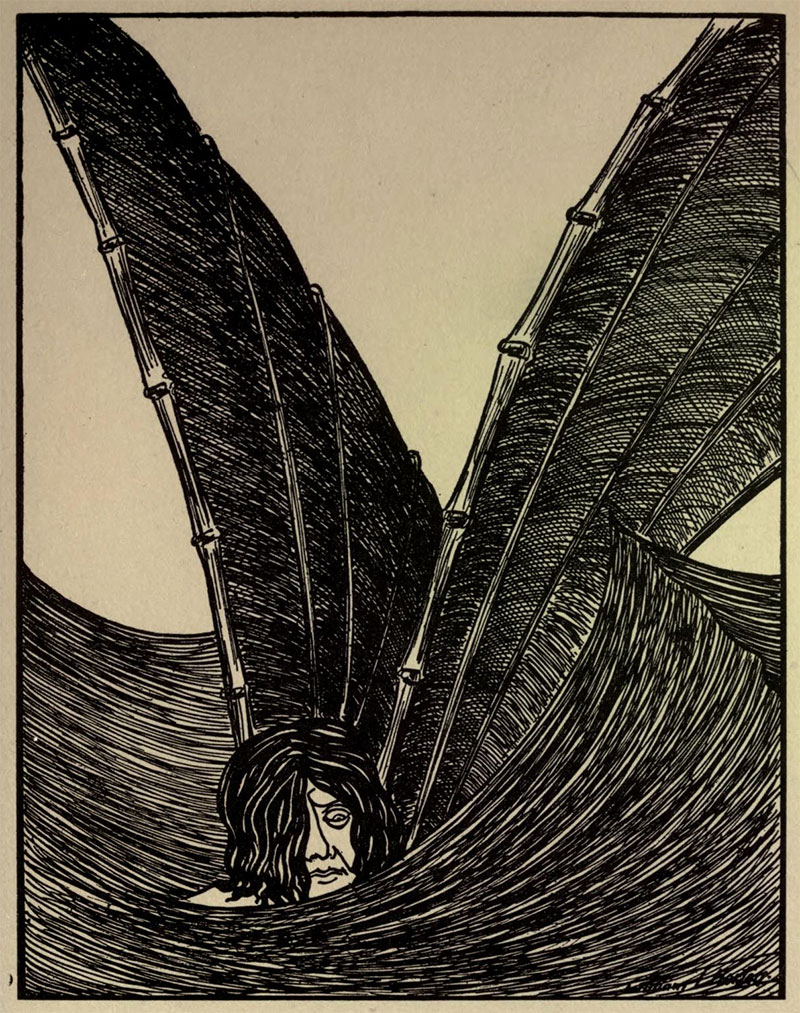 All Thy Waves Are Gone Over Me- Illustration by William Thomas Horton