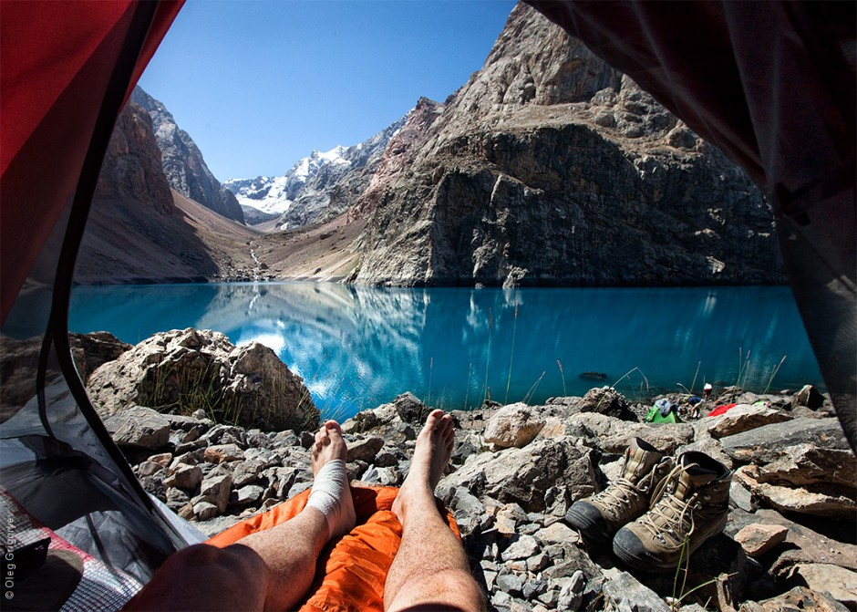 Morning Views from the Tent - Photo by Oleg Grigoryev